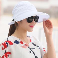 Diskon Fashion Gaya Korea Wanita Musim Panas Sun Hat Anti Uv Wide Brim Lady Pantai Visor Topi Putih Intl Tiongkok