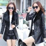 Spesifikasi Fashion Gaya Korea Wanita Wol Pu Mantel Jaket Lady Musim Gugur Musim Dingin Jaket Panjang Hangat Slim Mantel Intl Terbaik