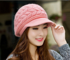 Fashion Wanita Korea Rajut Merajut Topi Kupluk Ski Musim Dingin Hangat Wol Topi Pet-Internasional