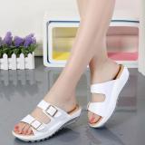 Jual Fashion Kulit Tergelincir Sepatu Wanita Sepatu Sandal Putih Sepatu Wanita Sandal Wanita Tiongkok