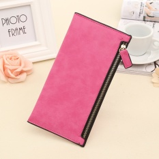 Fashion Ladies Permen Warna Wallet Super Tipis Ritsleting Panjang Dompet Red Intl Murah