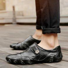Jual Fashion Kulit Sepatu Bisnis Sepatu Pria Sepatu Kasual Mengemudi Sepatu Kets Hitam Intl Online Di Tiongkok