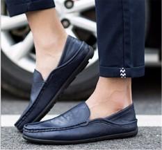 Harga Fashion Memakai Sepatu Kulit Pria Drive A Car Sepatu Pantofel Sepatu Kasual Inggris Berpakaian Termahal