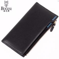 Diskon Fashion Leather Wallet Dompet Kulit Bogesi 837 Korean Style Elegan Pria Wanita Hitam Branded