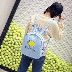 Fashion Pecinta Buah Mangga Backpack Gadis Sekolahnya Tas Bahu-Internasional