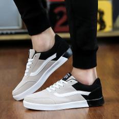 Mode Rendah-cut CANVAS Sepatu untuk Pria 1322 & Hitam & Abu-abu