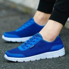 Jual Fashion Pria G*Rl Sneaker Musim Panas Bernapas Sepatu Kasual Pria Ukuran Besar 35 46 Biru Intl Murah Di Tiongkok