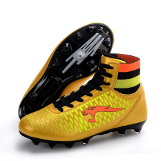 Top 10 Fashion Men Children Outdoor Sepatu Sepak Bola Sepatu Sepak Bola Cleat 8116 Kuning Online
