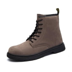 Review Toko Fashion Men Genuine Leather High Top Classic Martin Boots Waterproof Ankle Boots Men Casual Shoes Intl