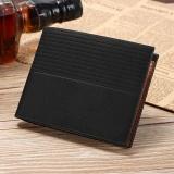 Beli Fashion Men Leather Short Wallet Small Vintage Purse Credit Card Holder Intl Murah