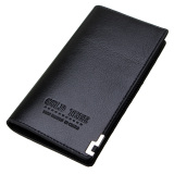 Harga Termurah Fashion Men Leather Wallet Bifold Long Clutch Credit Card Coinnholder Purse Hot Black Intl