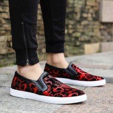 Diskon Fashion Men Printed Nyaman Kasual Lembut Shoes Low Top Sepatu Intl Branded