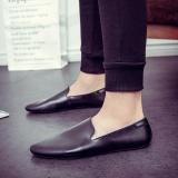 Spesifikasi Fashion Pria Gaya Sederhana Kasual Ujung Lancip Sepatu Pria Nyaman Slip Ons Sepatu Pria Loafers Mengemudi Sepatu Hitam Intl Bagus
