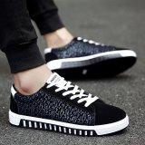 Toko Fashion Sneakers Pria Musim Panas Bernapas Kanvas Sepatu Kasual Sepatu Biru Intl Terlengkap Tiongkok