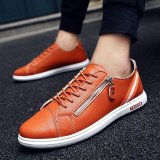 Katalog Fashion Sneakers Pria Musim Panas Bernapas Olahraga Sepatu Oranye Intl Terbaru