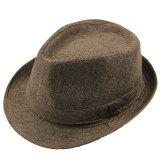 Spesifikasi Fashion Pria Wanita Kasual Topi Fedora Mencubit Crown Cap Matahari Pantai Panama Hat Adapula Bagus