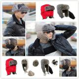 Busana Pria Brown Aviator Bomber Faux Fur Winter Ski Trooper Trapper Ear Flap Hat Cap Oem Diskon