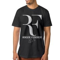 Busana Pria Olah Roger Federer Kemeja Hitam-Internasional