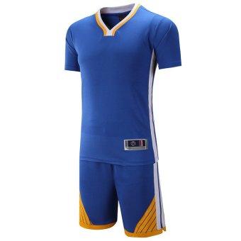 Harga preferensial Busana Pria Olahraga Bola Basket Jersey Kemeja dan  Celana Pendek Seragam Set-Biru (1615)-Intl beli sekarang - Hanya Rp225.745 af3fbd3fe1