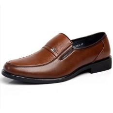 Jual Fashion Mens Brown Oxford Sepatu Kulit Bekerja Gaun Bisnis Loafers Internasional Not Specified Asli