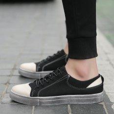 Ongkos Kirim Fashion Pria Kasual Sepatu Sneaker Klasik Lace Up Olahraga Shoes Hitam Intl Di Tiongkok