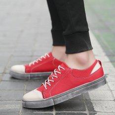 Review Toko Fashion Pria Kasual Sepatu Sneaker Klasik Lace Up Sport Shoes Merah Intl Online