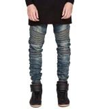 Jual Fashion Yang Didesain Ramping Lurus Jeans Pria Pengendara Sepeda Motor Branded