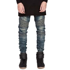 Beli Fashion Yang Didesain Ramping Lurus Jeans Pria Pengendara Sepeda Motor Kredit Indonesia