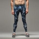 Harga Busana Pria Jogger Berlari Celana Panjang Olahraga Latihan Ketat Latihan Terkompresi Legging Blue Lightning Termurah