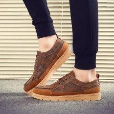 Beli Barang Fashion Pria Sneaker Nyaman Sepatu Santai Sepatu Bisnis Tan Intl Online