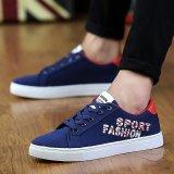 Spesifikasi Busana Pria Olah Raga Sepatu Musim Panas Casual Sepatu Sneaker Biru Intl Oem