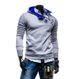 Toko Pria Sweatshirts Berkerudung Baju Olahraga Mantel Abu Abu Abu Muda Yang Bisa Kredit