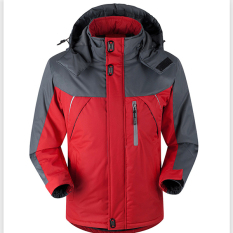 Spek Jaket Pria Untuk Naik Gunung Kegiatan Luar Cuaca Salju Tahan Angin Anti Air Warna Merah Tiongkok