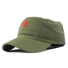 Promo Fashion Militer Cap Red Star Bordir Flat Topi Army Cap Outdoor Sun Olahraga Kasual Taktis Caps Bahasa Jerman Cadet Militer Caps Intl