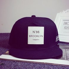 Harga Fashion Orang Baru Unisex Bboy Hip Hop Topi Snapback Baseball Cap Disesuaikan Unisex Hitam Internasional Origin