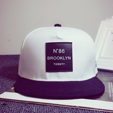 Fashion BARU Pria Unisex Bboy Hip Hop Topi Snapback Baseball Cap Disesuaikan Unisex Putih-Intl