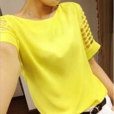 Jual Fashion Baru Wanita Lengan Panjang Blus Sifon Musim Panas Longgar Seksi Blus Solid Shirt Womens T Shirt Renda Atasan Kasual Cetak Tee Intl Branded Murah