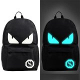 Beli Fashion Noctilucent Pria Backpack Anime Luminous Casual Backpack Blue Devil Intl