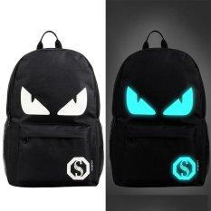 Spesifikasi Fashion Noctilucent Pria Backpack Anime Luminous Casual Backpack Blue Devil Intl Merk Oem