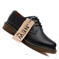 Jual Fashion Oxfords Sepatu Untuk Pria Dan Wanita Unisex Lace Up Asli Kulit Sepatu Hitam Intl Branded Original