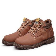 Beli Fashion Plus Tinggi Sepatu Perkakas Boots Cotton Cowboy Sepatu Bot Musim Dingin Salju Boots Ankle Boots Kopi Intl Murah