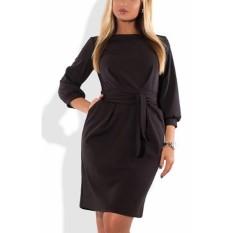 Fashion Plus Ukuran Winter Dress Novelty 2017 Besar Ukuran Wanita Pakaian dengan Destar Pakaian Kantor 5XL 6XL Aututmn Retro OL Vestidos-Intl