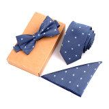 Spesifikasi Fashion Polyester Silk Neckties Handkerchief Bow Tie Set Skinny Ties Pocket Square Towel Bowtie Wedding For Men Baru