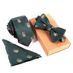 Beli Fashion Poliester Sutra Dasi Saputangan Bow Tie Set Kurus Ikatan Saku Persegi Handuk Bowtie Pernikahan For Pria Online Terpercaya