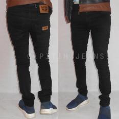 Beli Celana Jeans Lv S Skinny Fit Pria Bahan Lentur Dan Elastis Warna Hitam Secara Angsuran