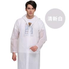 Modis Pria atau Wanita Sekali Pakai Jaket Angin Mobil Listrik Jas Hujan (Bening Putih)