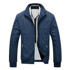 Fashion Pria - Jacket Parasut Pria Design Men Slim - Biru