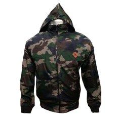 fashion pria jaket DC parasut Bolak-balik army-hitam keren.