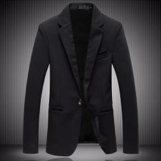 Beli Fashion Pria Jas Formal Exclusive Modern Design Hitam Nyicil