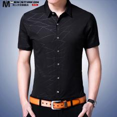 Toko Fashion Pria Slim Pria Muda Kemeja Lengan Pendek Kemeja Hitam Baju Atasan Kaos Pria Kemeja Pria Termurah Di Tiongkok